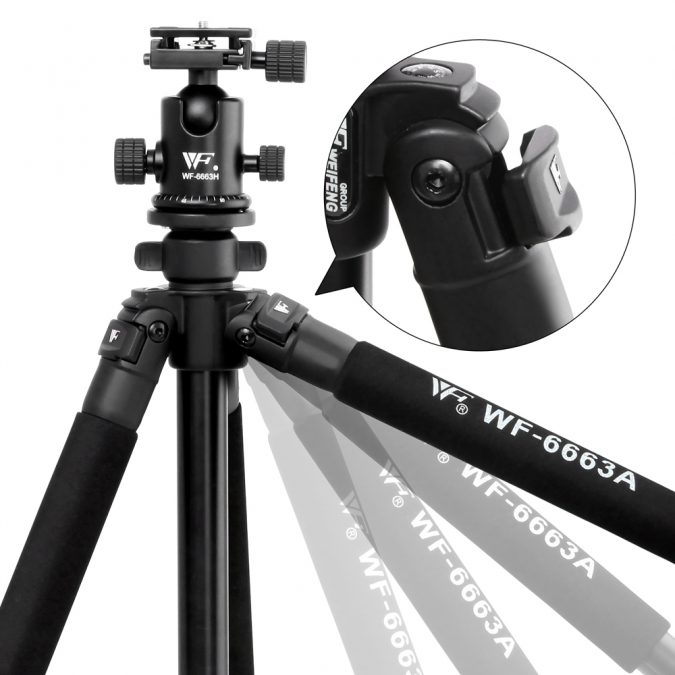 Professional Ball Head Tripod Digital Camera 173cm