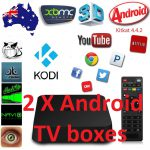2 X Android TV Box MXQ Quad Core with Kodi Fully Loaded